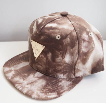 HATer Brown/White Tye Die Snapback