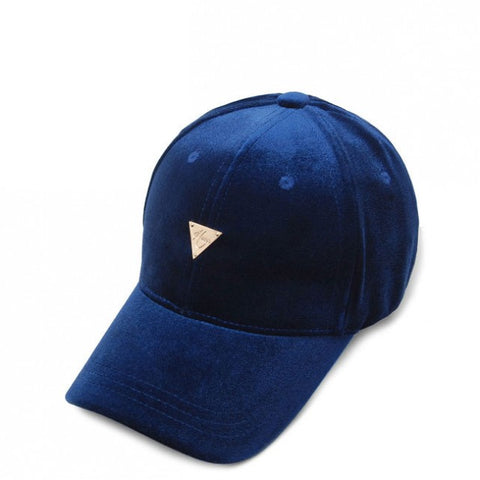 Unstructured Velvet Strapback - Royal Blue