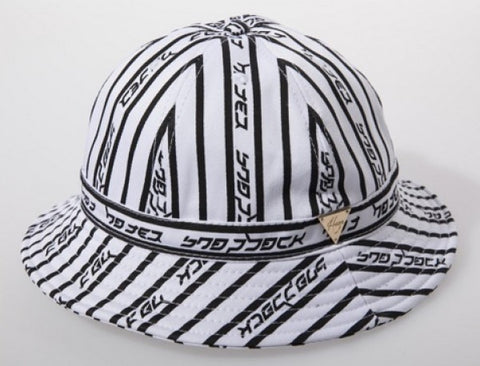 Stripe Hater Bucket Hat - White