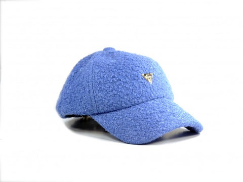 Boucle Unstructured Strapback - Blue