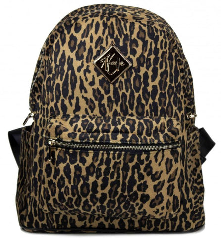 Leopard Print Backpack - Full Size