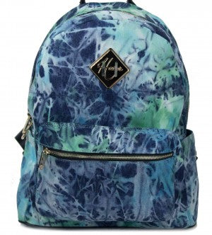 Tie Dye Backpack - Full Size - Blue