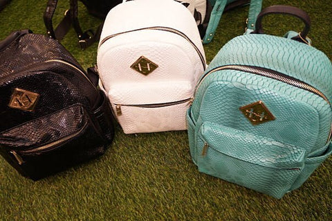 Small Snakeskin Backpack - Teal