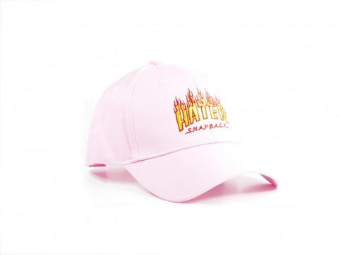 HATer Flame Unstructured Snapback - Pink