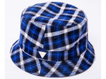 Flannel Plaid Bucket Hat - Blue