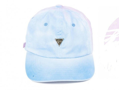 Gradient Unstructured Strapback - Pink & Blue