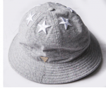 6 Star Multi Colored Paint Splatter Bucket Hat - Grey