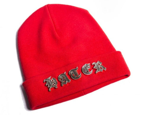 Gothic Lettered Beanie - Red
