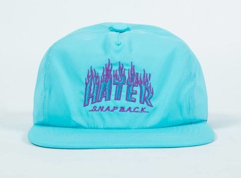 HATER Flame Snapback light blue