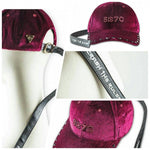 HATer X 7Crash velvet Cap - Crimson