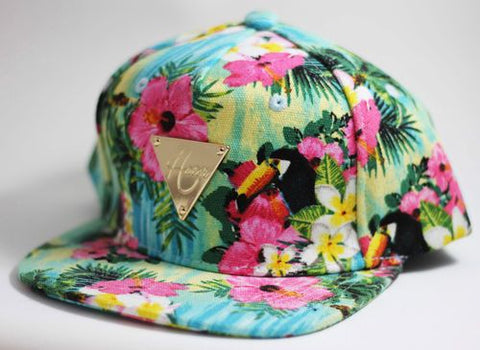 Hater Snapback Floral Flower Toucan