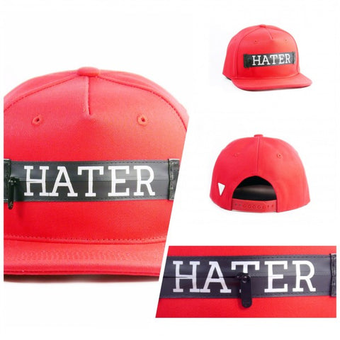 HATer Zipper Snapback - Red
