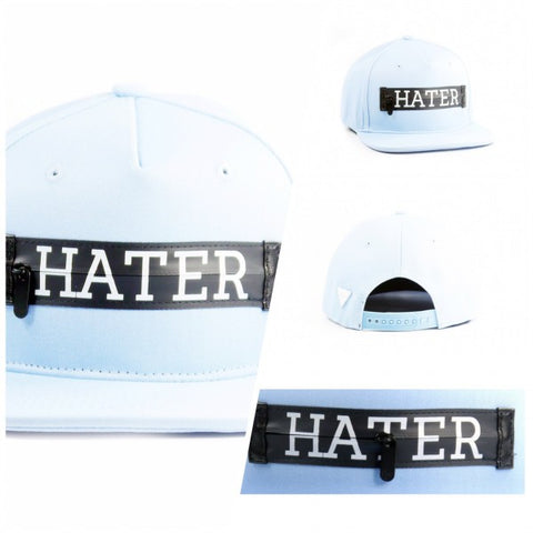 HATer Zipper Snapback - Light Blue