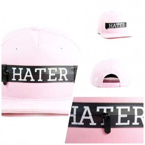 HATer Zipper Snapback - Pink
