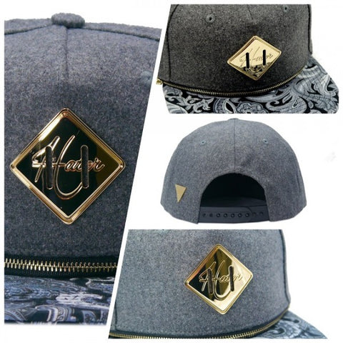 Interchangeable Brim Snapback - Flannel Grey