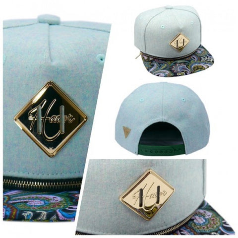 Interchangeable Brim Snapback - Flannel Teal