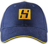 "HATer ""H"" Leather Patch Cap - Navy"