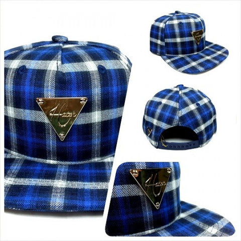 Flannel Plaid Snapback - Blue