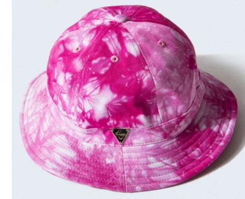 Tie Dye Bucket Hat with String - Pink
