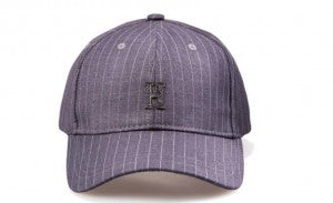 "Pinstripe ""H"" Structured Strapback - Dark Grey"