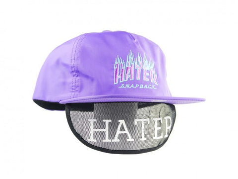 HATer Flame Snapback - Purple/Teal/Purple