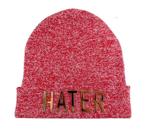 Hater Beanie - Speckle Red