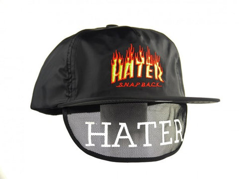 HATer Flame Snapback - Black/Red/Orange