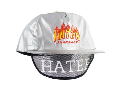 HATer Flame Snapback - Silver/Red/Orange