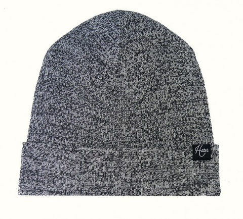 Basic Beanie - Mixed Yarn Black