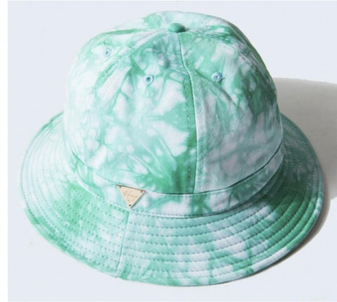 Tie Dye Bucket Hat with String - Teal