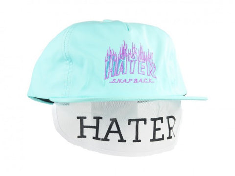 HATer Flame Snapback - Light Green/Blue/Purple