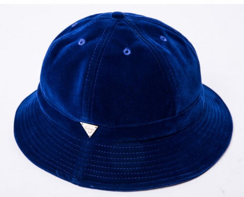 Velvet Bucket Hat - Royal Blue