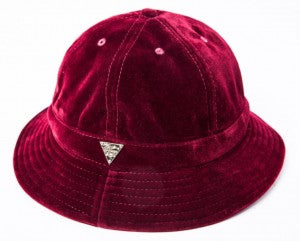 Velvet Bucket Hat - Red