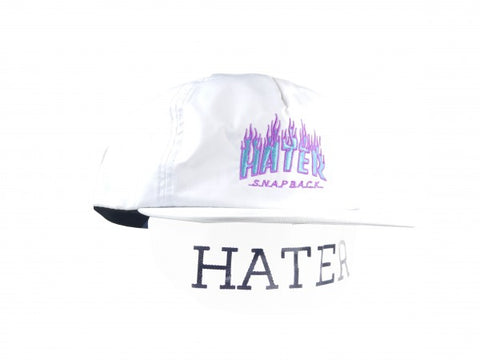 HATer Flame Snapback - White/Blue/Purple