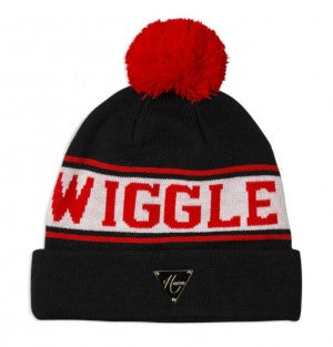Wiggle Pom Beanie - Red/Black