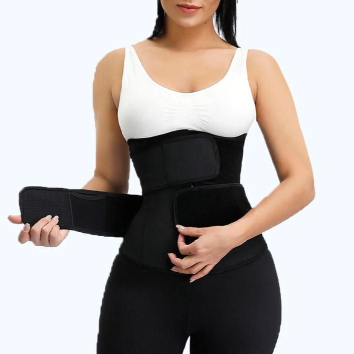 Premium Waist Trainer - Double Compression Straps with Supportive Zipper!