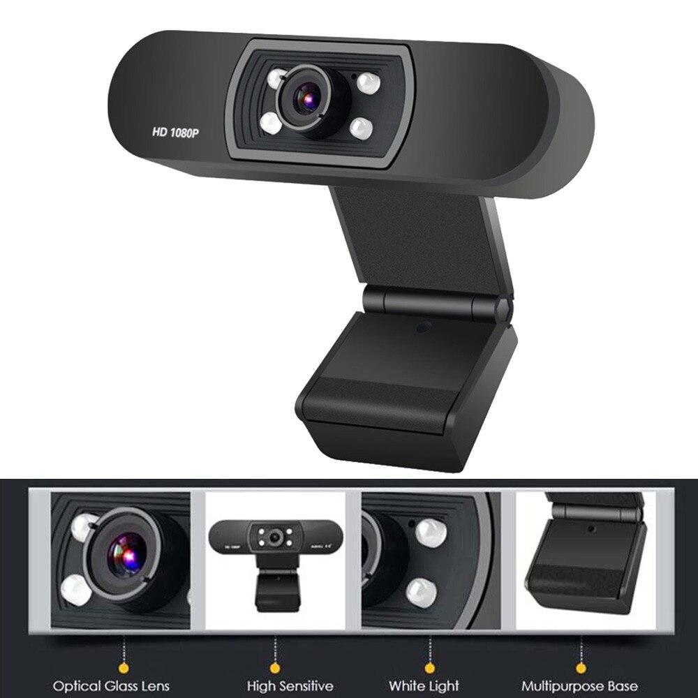 iEYE™ Webcam HD1080P  Web Camera with Built-in HD Microphone 1920 x 1080p USB 2.0 Web Cam Widescreen Video For PC Laptop