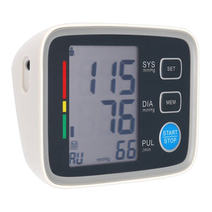 Automatic Digital Blood Pressure Monitor Upper Arm Blood Pressure Monitor Pulse Rate Irregular Heartbeat Detector Cuff FDA LCD Display