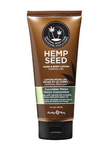 Earthly Body Cucumber Melon Hemp Seed Velvet Lotion