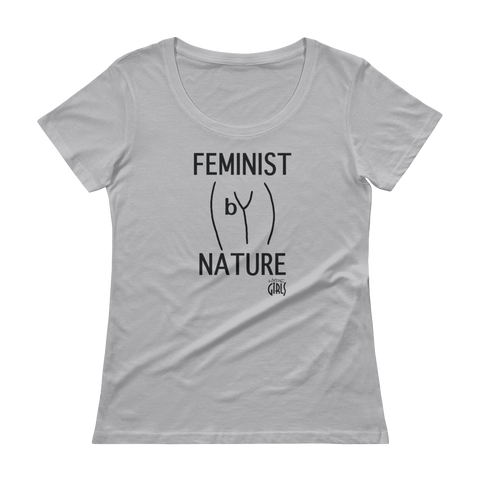 Feminist by Nature Tee - Silver Fox