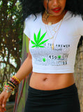 Green is the Answer Fitted Crop Tee
