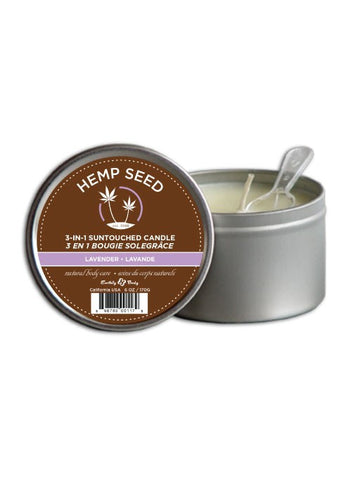 Earthly Body Lavender 3-in-1 Hemp Massage Candle