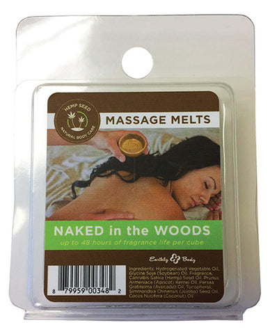 Earthly Body Massage Melts Refill - Naked in the Woods