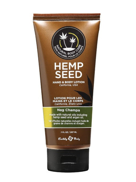 Earthly Body Nag Champa Hemp Seed Velvet Lotion
