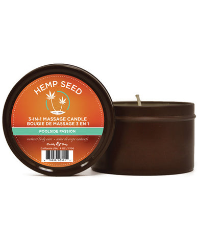 Earthly Body Poolside Passion Hemp Seed Massage Candle