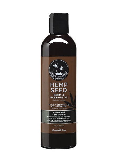 Earthly Body Unscented Hemp Seed Massage & Body Oil