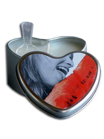 Earthly Body Heart Watermelon Suntouched Hemp Edible Massage Candle - HypeGirls
