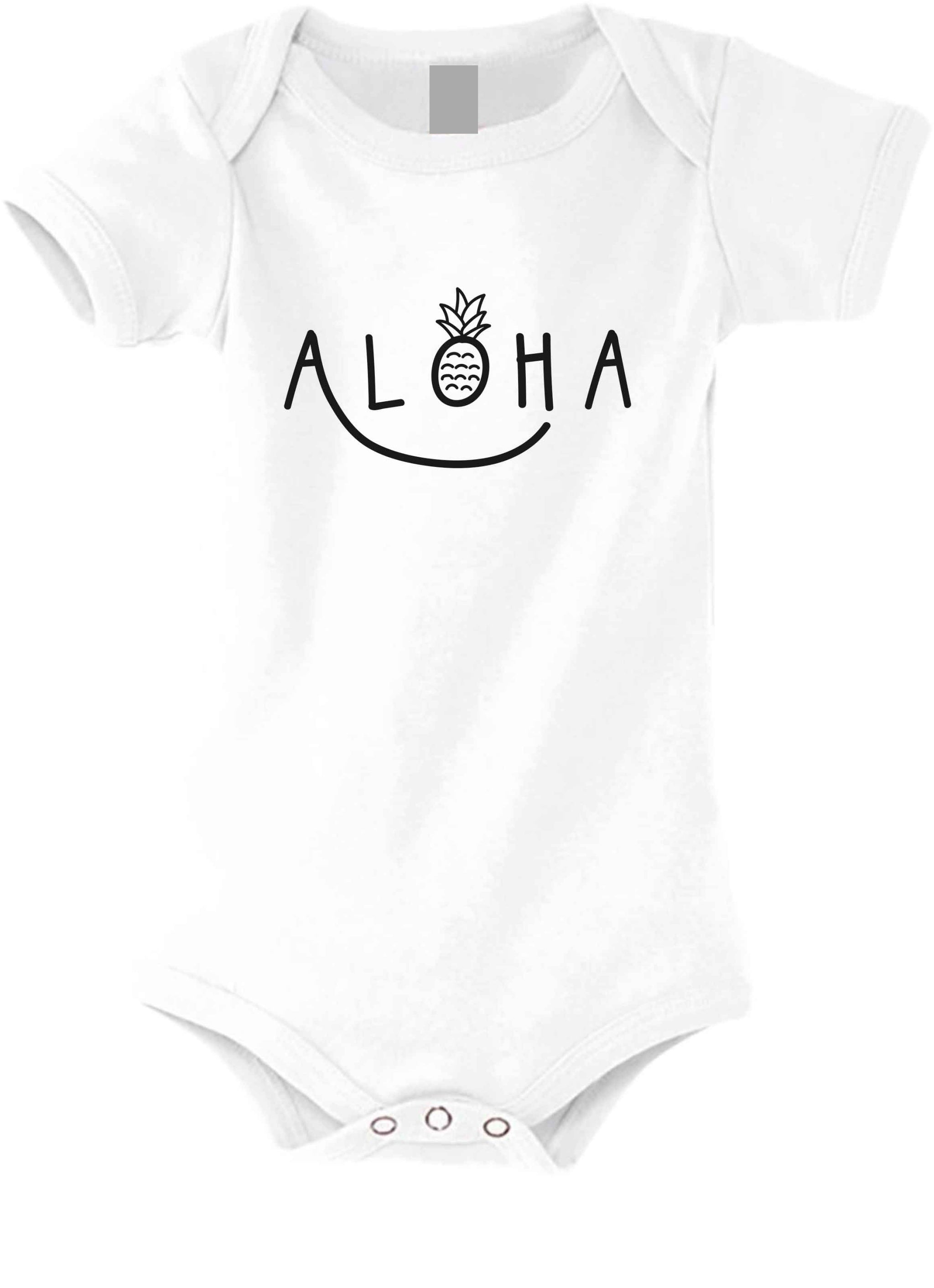 Aloha Smile Baby Short-Sleeved Body