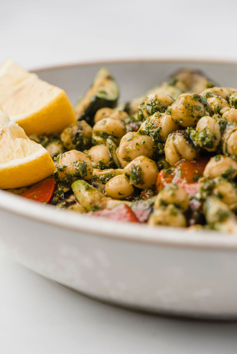 Chermoula Chickpeas & Grilled Vegetables