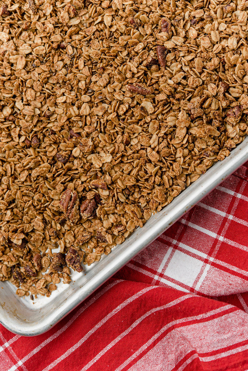 Maple-Cinnamon Flaxseed Granola